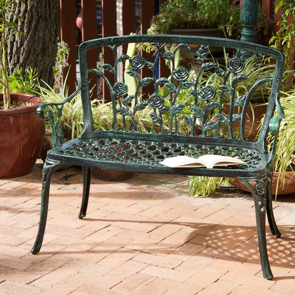 San Clemente Floral Patio Bench