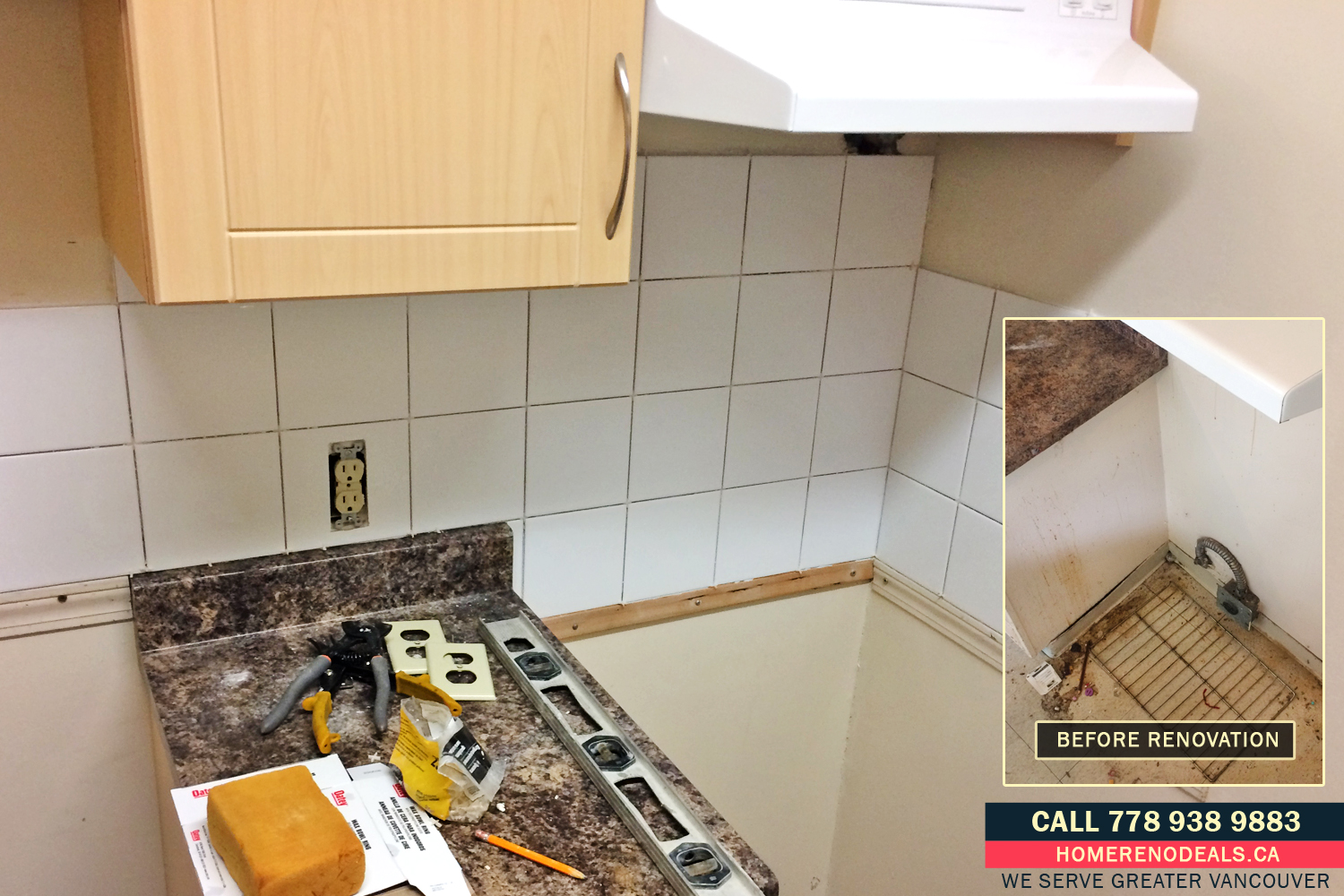Beginning of Kitchen Tiling and Home Renovation Deals in Greater