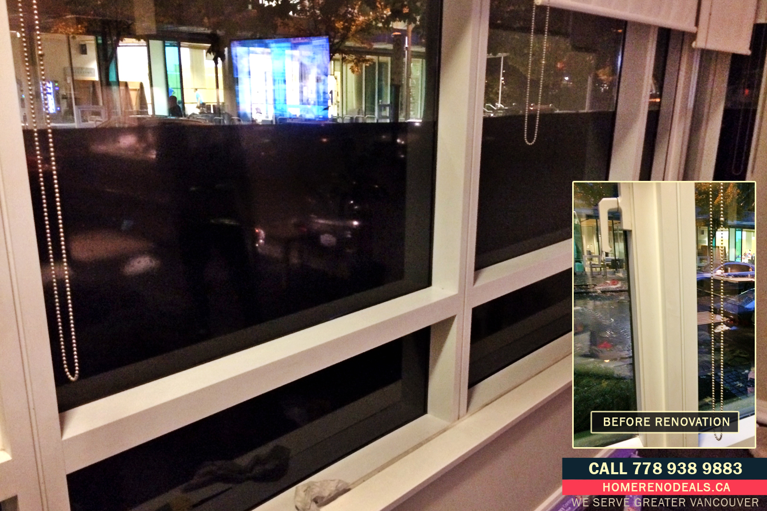 Handyman for Home Window Tinting with Decorative Film. Home Renovation Deals in Greater Vancouver, BC