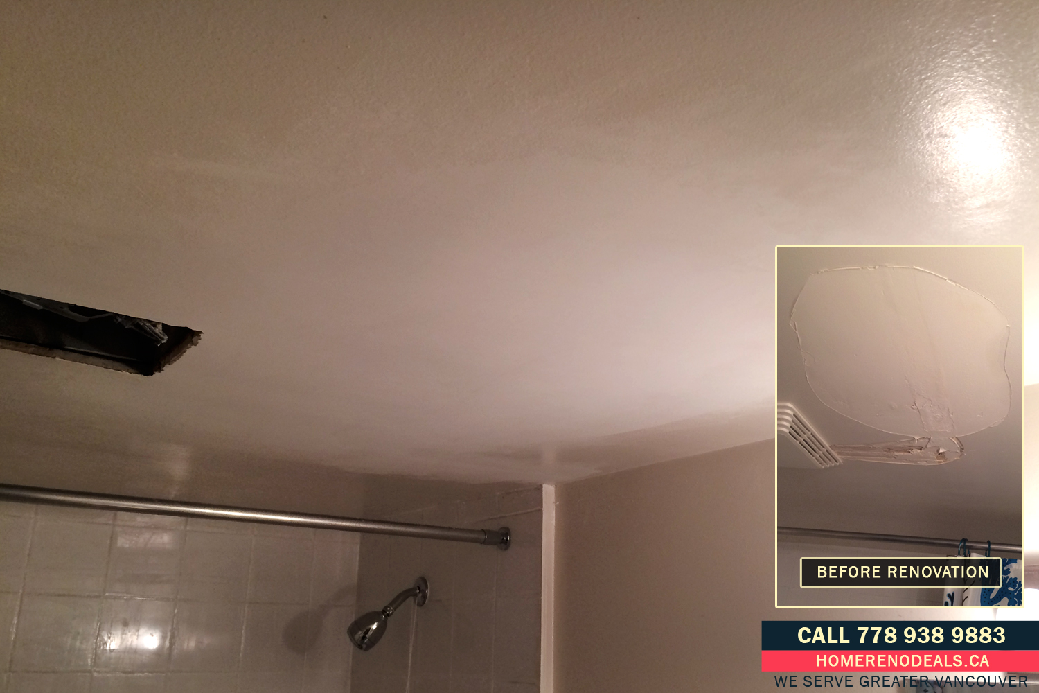 Water damage restoration for ceilings