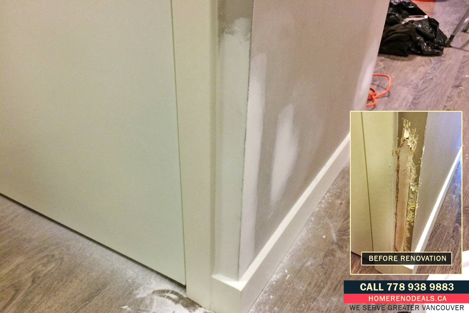 Dog, Cat and Pet Chewed Wall Repair Service in Greater Vancouver, BC