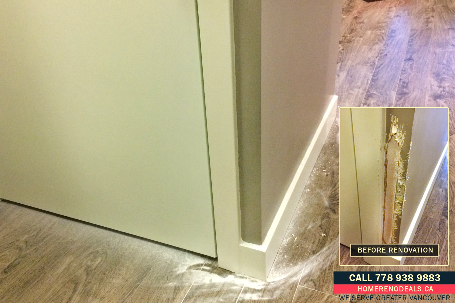 Dog, Cat and Pet Damaged Wall Repair Service in Greater Vancouver, BC