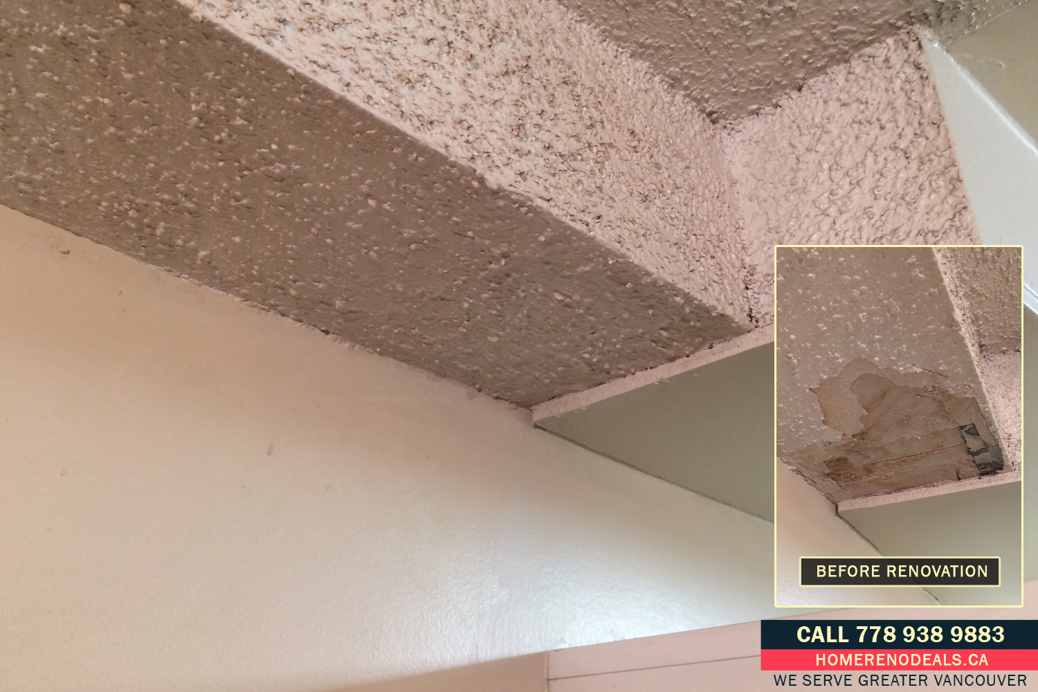 Ideal Popcorn Ceiling Texture Repair Service in Greater Vancouver, BC SX31